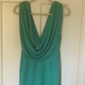 Gorgeous teal cowl back dress